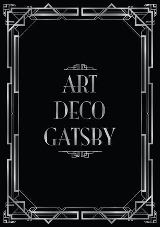 gatsby art deco background Illustration