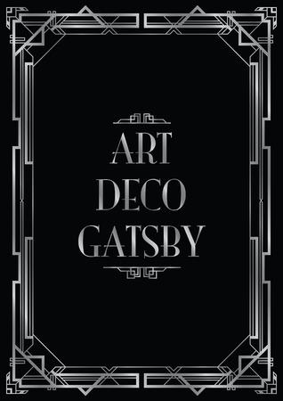 gatsby art deco background Vettoriali