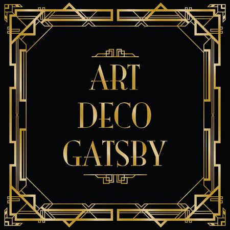Gatsby art déco fond