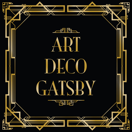 gatsby art deco background Stock Illustratie