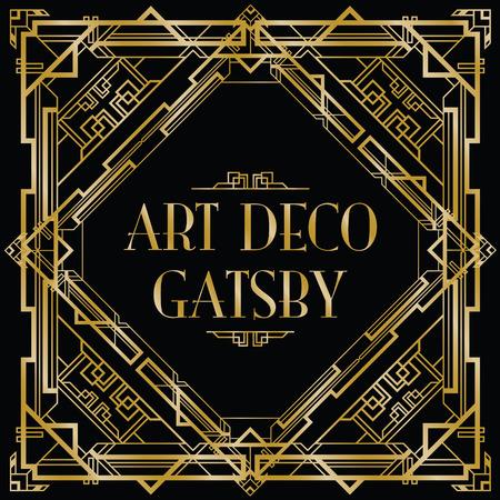 arte moderno: Gatsby fondo art deco Vectores