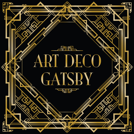 Gatsby fondo art deco Vectores