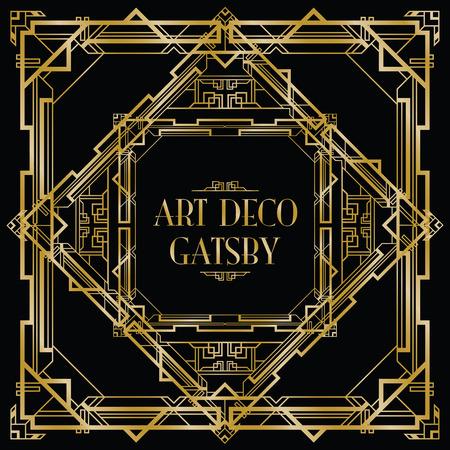 art deco background: gatsby art deco background Illustration