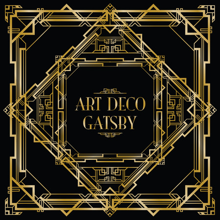 kunst: Gatsby Art-Deco-Hintergrund