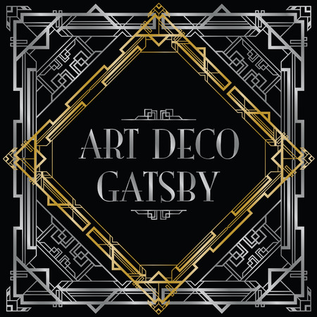 gatsby art deco achtergrond Stock Illustratie