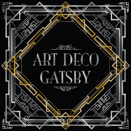 geometricos: Gatsby fondo art deco Vectores