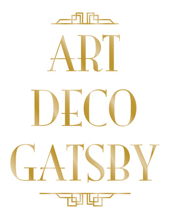 gatsby art deco background Illusztráció
