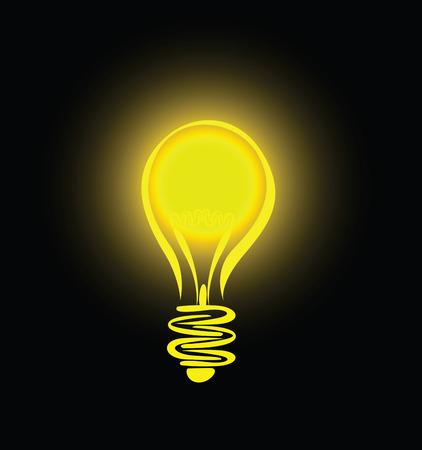 lamp silhouette: hanging lightbulb  Illustration