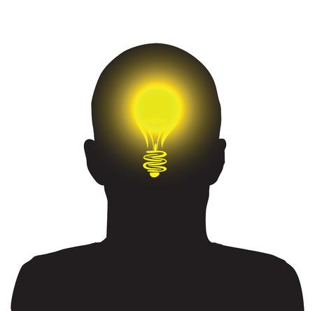 lightbulb idea person