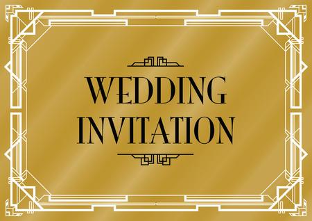 slanted: boda Gatsby invitan Vectores