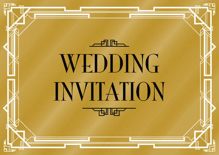 Gatsby bruiloft uitnodigen