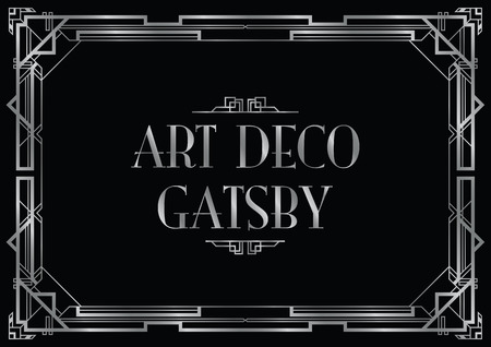gatsby wedding invite Ilustrace