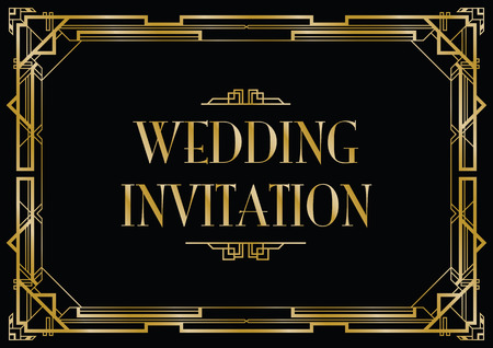 gatsby wedding invite 向量圖像
