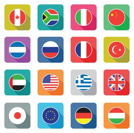 bandera de gran bretaña: un conjunto de banderas del mundo