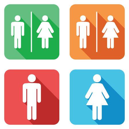 mannen en vrouwen wc tekenen