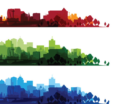 over print cityscapes Vector
