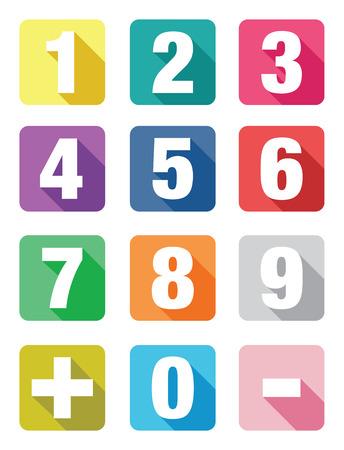 aantal vlakke icoon sets Stock Illustratie