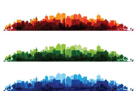 인쇄 도시 풍경을 통해 일러스트