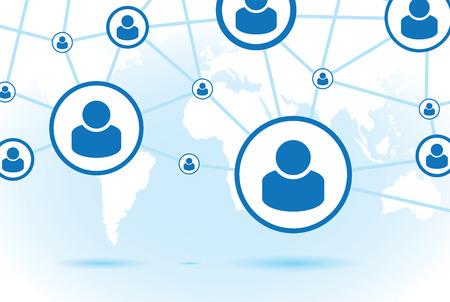 socialise: communication background Illustration