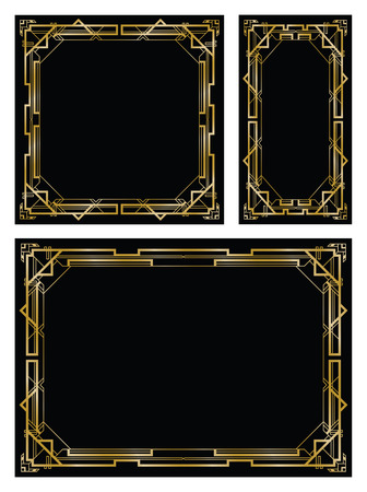art deco gatsby backgrounds Reklamní fotografie - 32333421
