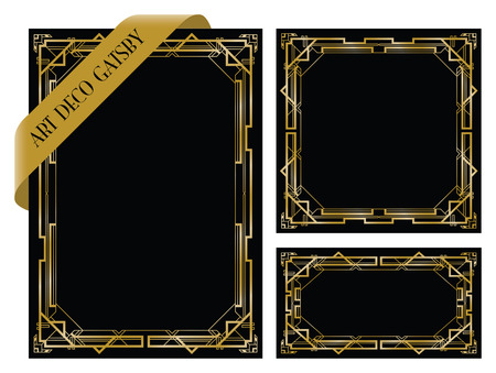titled: art deco gatsby backgrounds