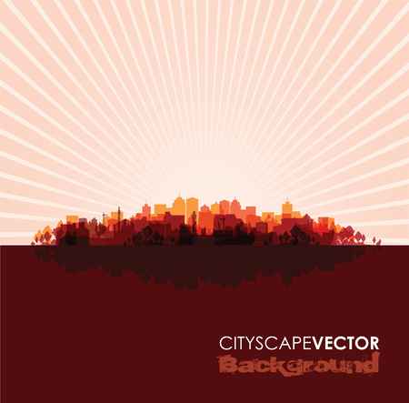 overprint: red cityscape overprint background
