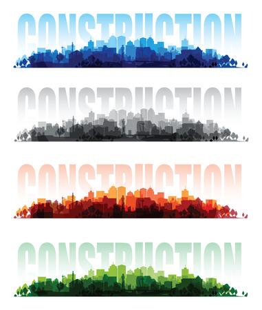 overprint: cityscape overprint backgrounds