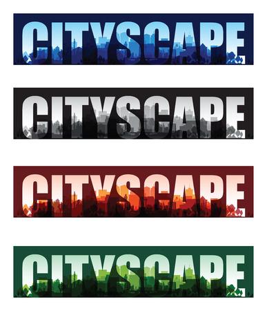 overprint: cityscape overprint background set Illustration
