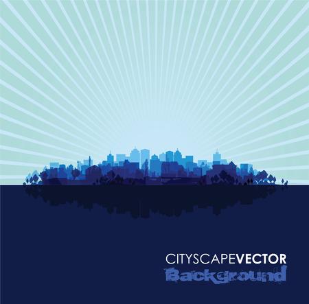 overprint: blue cityscape overprint background
