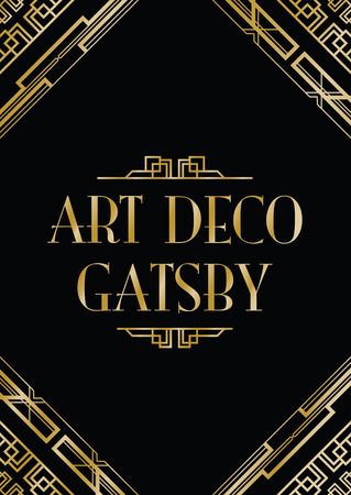 art deco gatsby style background Stock Illustratie