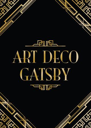 hoekversiering: art deco Gatsby stijl achtergrond