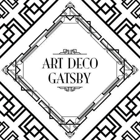 art deco Gatsby stijl achtergrond