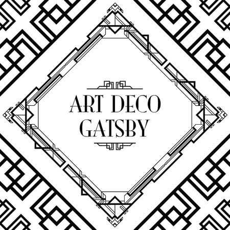 decoration elements: art deco gatsby style background Illustration