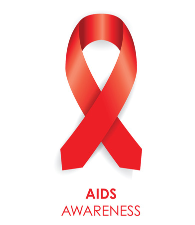 lapel: aids awareness ribbon
