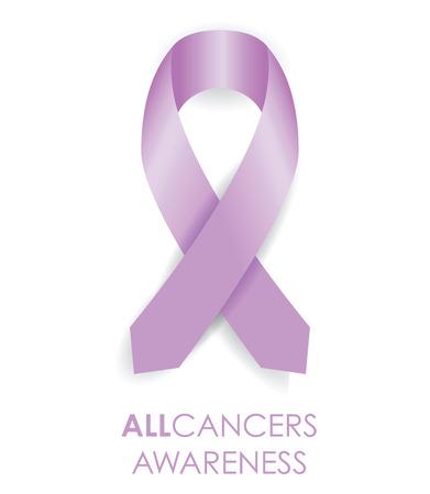 tous ruban de conscience de cancer