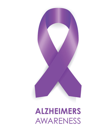 alzheimers ribbon Vector