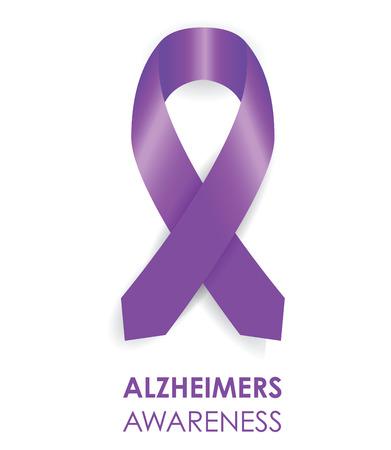 alzheimers ribbon Illustration