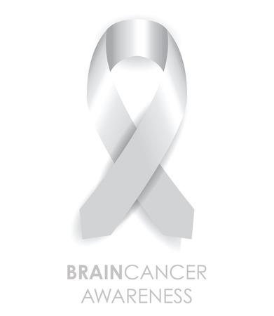 silver ribbon: brain cancer awareness ribbon