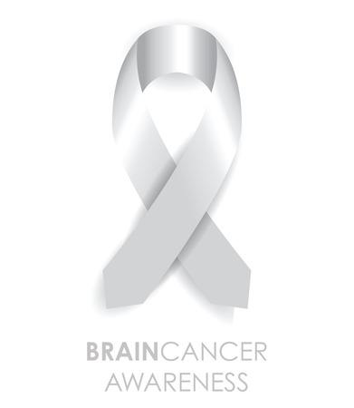 hersenen kanker voorlichting lint Stock Illustratie