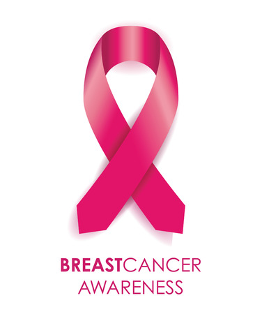 cancer: breast cancer awareness ribbon Illustration