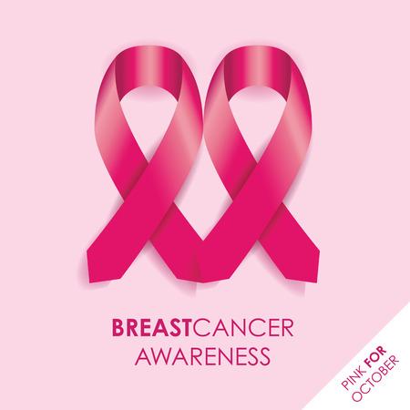 cancer illustration: breast cancer awareness ribbon Illustration