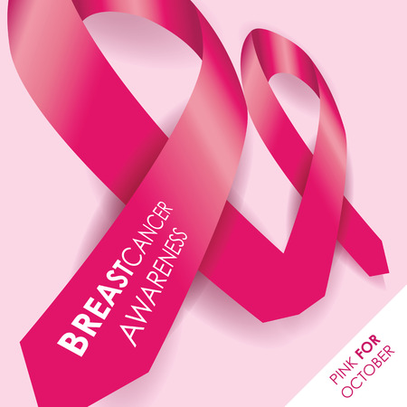 cancer patient: breast cancer awareness ribbon Illustration
