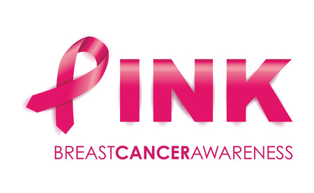 cancer symbol: breast cancer awareness ribbon Illustration