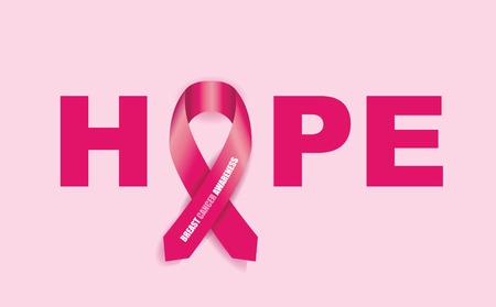 cancer de mama: cinta de la conciencia del cáncer de mama Vectores