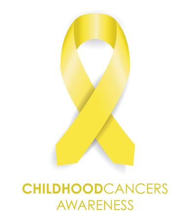 sign  childhood: childhood cancer ribbon Illustration