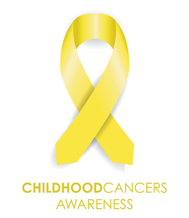 childhood cancer ribbon Illustration