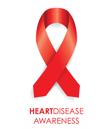 substance abuse awareness: heart disease ribbon Illustration