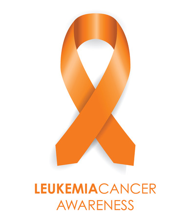 leukemia: leukemia cancer awareness ribbon Illustration
