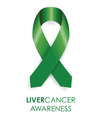 liver cancer: liver awareness cancer ribbon