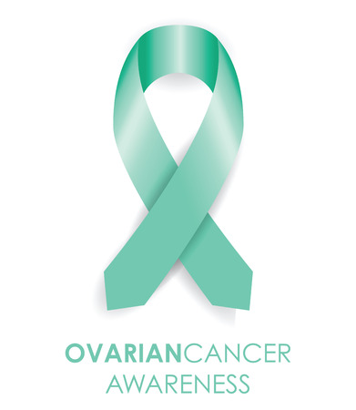 badge ribbon: ovarian cancer ribbon
